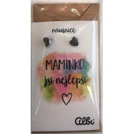 Albi Dárkový šperk náušnice Maminka 1 pár