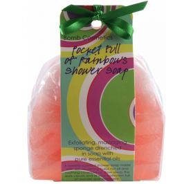 Bomb Cosmetics Sladká duha - Pocket Full of Rainbows Sprchové masážní mýdlo 140 g