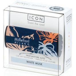 Millefiori Milano Icon White Musk - Bílé pižmo vůně do auta Textil Floral voní až 2 měsíce 47 g