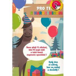Albi Hrací přání s efektem k narozeninám Dětské se zvířátky 14,8 x 21 cm