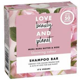 Love Beauty & Planet Murumurské máslo a Růže tuhý šampon pro barvené vlasy 90 g