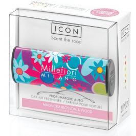 Millefiori Milano Icon Magnolia Blossom & Wood - Květy magnólie a dřevo vůně do auta Cuori & Fiori voní až 2 měsíce 47 g
