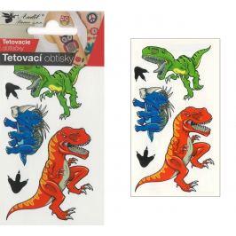 Tetovací obtisky barevné pro děti Dinosauři 10,5 x 6 cm