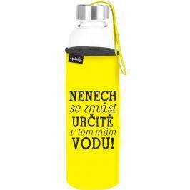 Nekupto Neplastuj Skleněná láhev na pití Nenech se zmást 500 ml