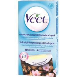 Veet Easy-Gel Tělo a nohy depilační voskové pásky pro citlivou pokožku 40 kusů + Perfect Finish ubrousky pro závěrečnou péči 4 kusy