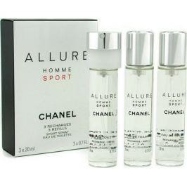 Chanel Allure Homme Sport toaletní voda náplně 3 x 20 ml