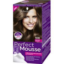 Schwarzkopf Perfect Mousse Permanent Foam Color barva na vlasy 600 Světle hnědý