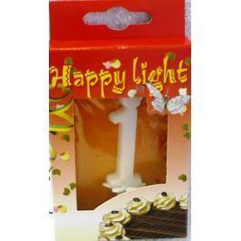 Happy light Dortová svíčka číslice 1 v krabičce