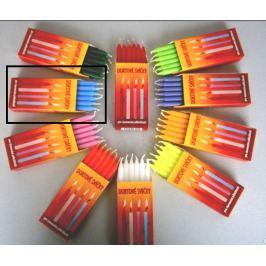 Dortové svíčky Modrá 95 x 8 mm 12 kusů