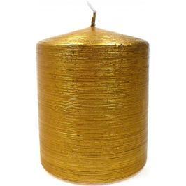 Lima Alfa svíčka zlatá válec 80 x 120 mm 1 kus