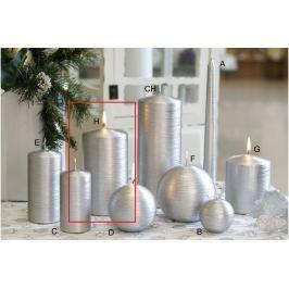 Lima Alfa svíčka stříbrná válec 80 x 150 mm 1 kus