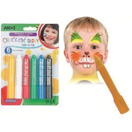 Amos Face Deco Barvy na obličej - sada 6 barev