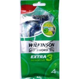 Wilkinson Extra 3 Sensitive holící strojek jednorázový 3 břity 4 kusy