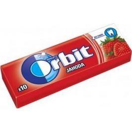 Wrigleys Orbit Jahoda žvýkačky bez cukru ovocné dražé 10 kusů 14 g