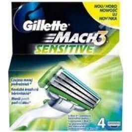 Gillette Mach 3 Sensitive náhradní hlavice 4 kusy