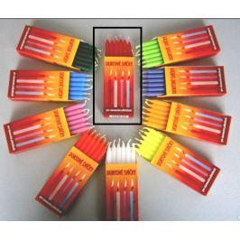 Dortové svíčky Červená 95 x 8 mm 12 kusů Drogerie