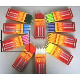 Dortové svíčky Růžová 95 x 8 mm 12 kusů