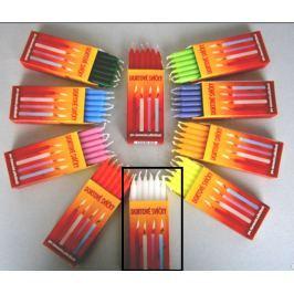 Dortové svíčky Bílá 95 x 8 mm 12 kusů
