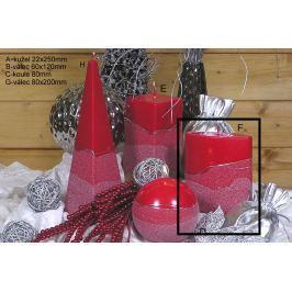 Lima Artic svíčka červená válec 80 x 200 mm 1 kus Drogerie