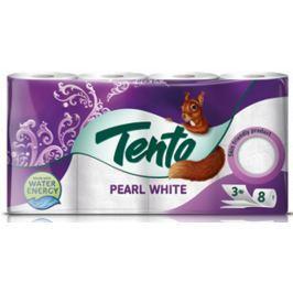 Tento Pearl White toaletní papír 3 vrstvý 150 útržků 8 kusů Toaletní papír