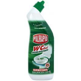 Pulirapid Wc gel čistící gelový prostředek na toaletní mísy 750 ml Čistící prostředky na WC