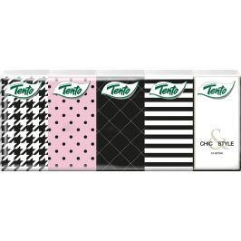 Tento Chic&Style hygienické kapesníky 3 vrstvé 10 kusů Ubrousky a papírové kapesníky