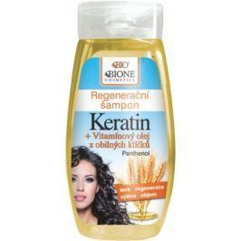 Bione Cosmetics Keratin & Obilné klíčky regenerační šampon 260 ml Šampony