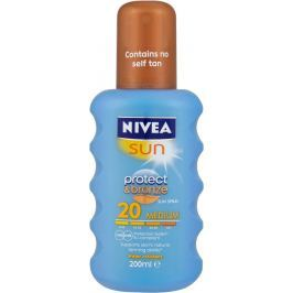Nivea Sun Protect & Bronze SPF20+ intenzivní sprej na opalování Medium 200 ml