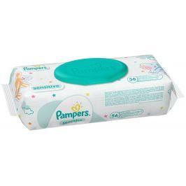 Pampers Sensitive Vlhčené ubrousky pro citlivou pokožku dětí 56 kusů Dětské vlhčené ubrousky