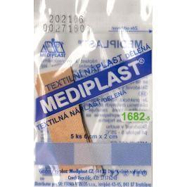 Mediplast textilní náplast dělená 6 cm x 2 cm 5 kusů Náplasti