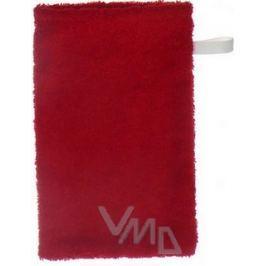 Froté žínka na koupání s poutkem různé barvy 21 x 13 cm 1 kus