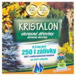 Agro Kristalon Okrasné dřeviny univerzální hnojivo 0,5 kg pro 250 l zálivky