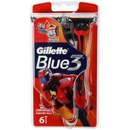 Gillette Blue 3 Special Edition holítka červené 3 břity pro muže 6 kusů