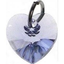 Swarovski Elements přívěšek srdce světle fialový 10 mm 1 kus