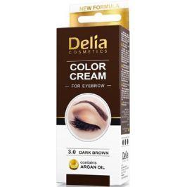 Delia Cosmetics Color Cream barvící krém na obočí 3.0 Tmavě hnědá 15 ml + 15 ml