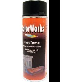 Color Works High Temp 918550 černý žáruvzdorný lak na povrchy 400 ml