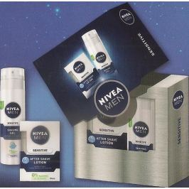 Nivea Men Lot Sensitive voda po holení 100 ml + gel na holení 200 ml, kosmetická sada