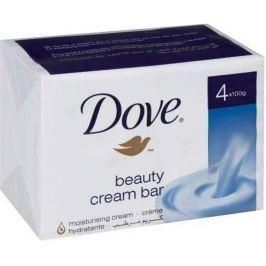 Dove Beauty Cream Bar krémové toaletní mýdlo 4 x 100 g