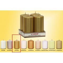 Lima Svíčka hladká metal zlatá válec 50 x 100 mm 4 kusy