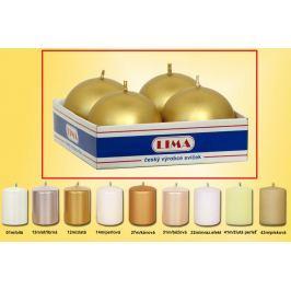 Lima Svíčka hladká metal zlatá koule průměr 60 mm 4 kusy