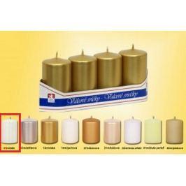 Lima Svíčka hladká metal bílá válec 40 x 70 mm 4 kusy