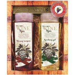 Bohemia Gifts & Cosmetics Wine Spa Vinná kosmetika Hroznový olej a extrakt z vinné révy Vlasový šampon 250 ml + Sprchový gel 250 ml, kosmetická sada