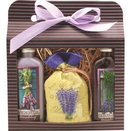 Bohemia Gifts & Cosmetics Lavender La Provence sprchový gel 100 ml + Olejová lázeň 100 ml + Koupelová sůl 150 g, kosmetická sada