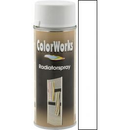 Color Works Radiatorspray alkydový lak bílý 400 ml sprej