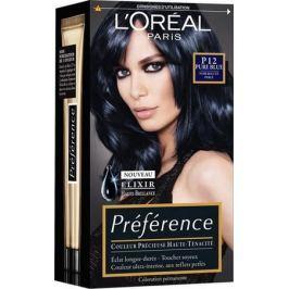 Loreal Paris Préférence barva na vlasy P12 Seoul Intenzivně černomodrá
