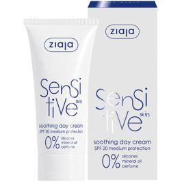 Ziaja Sensitive Skin SPF 20 zklidňující denní krém redukující podráždění 50 ml