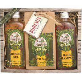 Bohemia Gifts & Cosmetics Beer Spa sprchový gel 100 ml + sůl do koupele 150 g + šampon na vlasy 100 ml, kosmetická sada