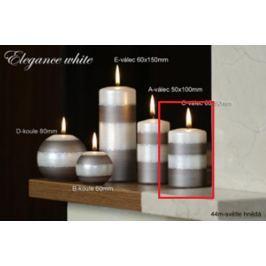 Lima Elegance White svíčka světle hnědá válec 60 x 90 mm 1 kus Drogerie