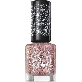 Rimmel London Glitter Bomb Top Coat lak na nehty 019 Disco Diva 8 ml