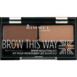 Rimmel London Brow This Way paletka na obočí 003 Dark Brown 1,1 g Výživa řas a obočí